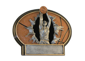 Basketball, Female, Burst Thru Resin, 6""