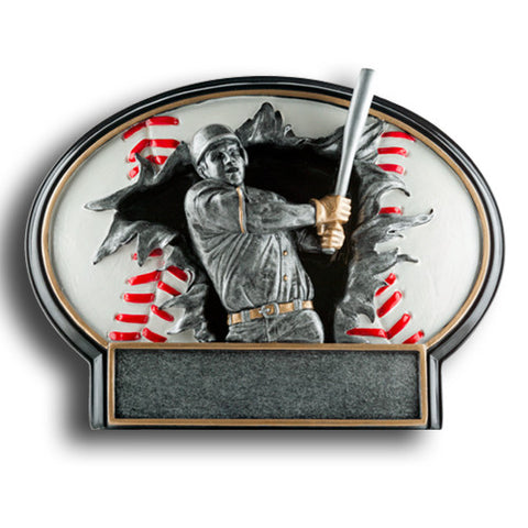 Baseball Burst Thru Resin Trophy, 2 Sizes