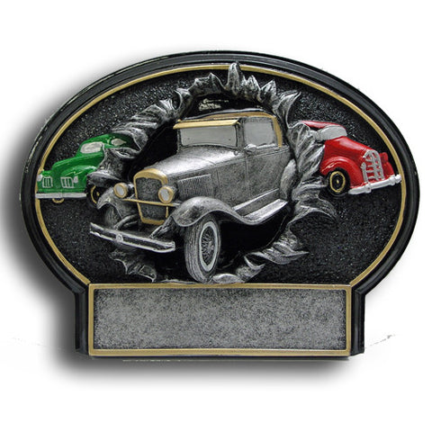 Antique Car Burst Thru Resin Trophy