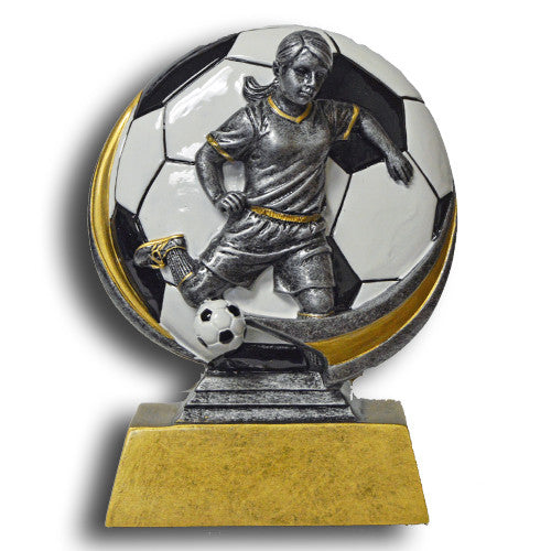 Soccer, Female, Full Color Motion Extreme Resin