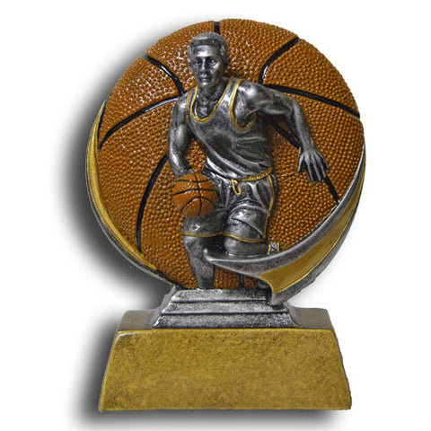 Basketball, Male, Full Color Motion Extreme Resin Trophy