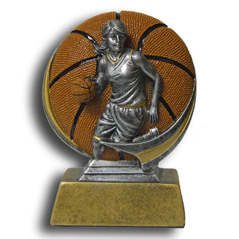 Basketball, Female, Full Color Motion Extreme Resin Trophy