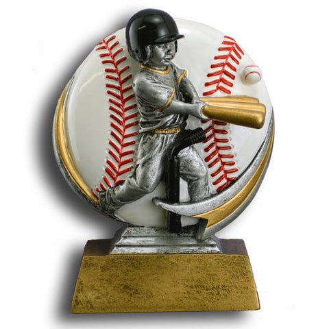 Baseball, Boys T-Ball, Full Color Motion Extreme Resin Trophy