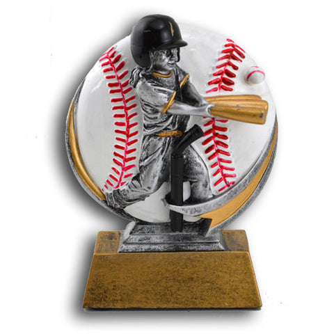 Baseball, Girls T-Ball, Full Color Motion Extreme Resin Trophy