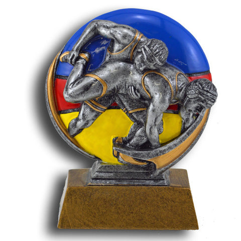 Wrestling Full Color Motion Extreme Resin Trophy