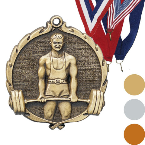 Weightlifting Wreath Medal, 2 1/2""