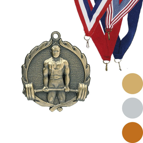 Weightlifting Wreath Medal, 1 3/4""