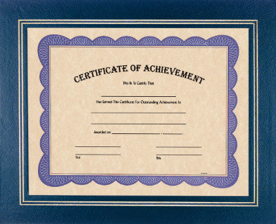 Certificate Holder in Blue