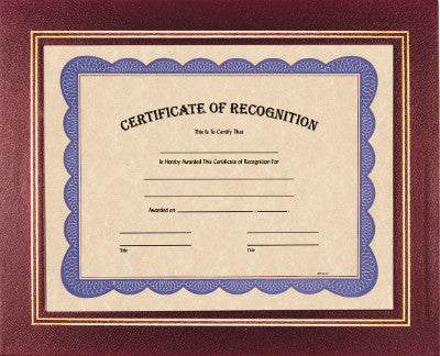 Certificate Holder in Burgundy
