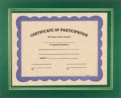 Certificate Holder in Green
