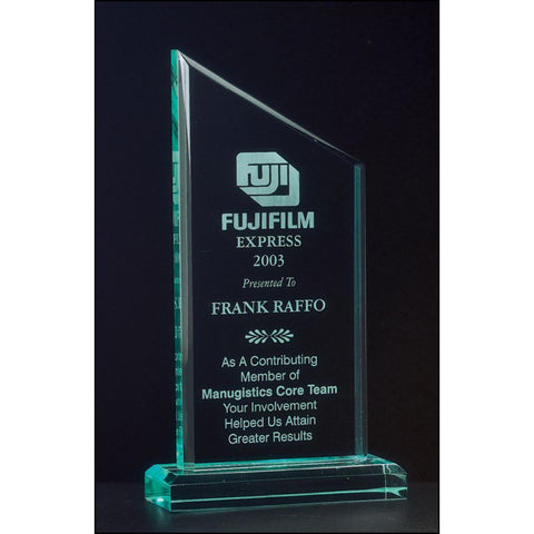 "Zenith Series, 3/4"" thick acrylic award on acrylic base, 3 Sizes"