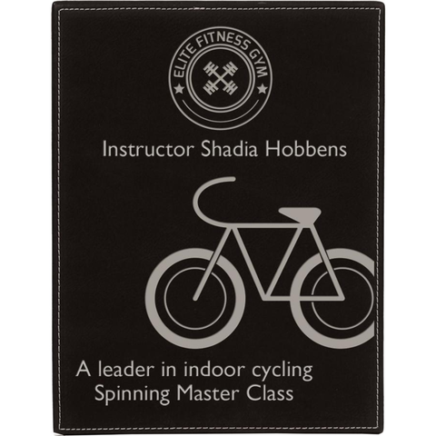 Full Leatherette Covered Plaque, 4 Sizes, 6 Colors