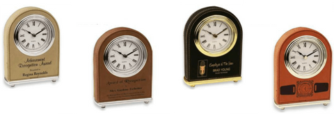 Leatherette Arch Clock Collection