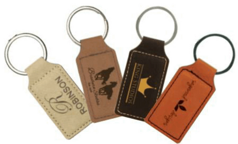 Leatherette Rectangle Keychains Collection