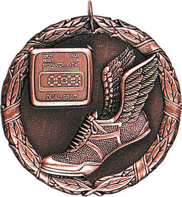 "Track XR Medal, 2"" in bronze"