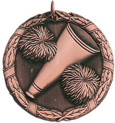 "Cheerleading XR Medal, 2"" in bronze"