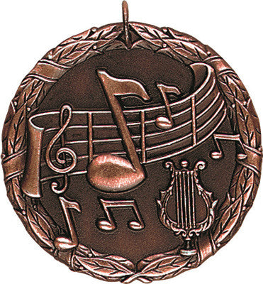 "Music XR Medal, 2"" in bronze"