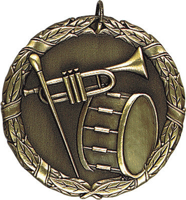 "Band XR Medal, 2"" in gold"