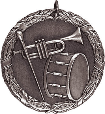 "Band XR Medal, 2"" in silver"