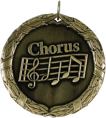 "Chorus XR Medal, 2"" in gold"