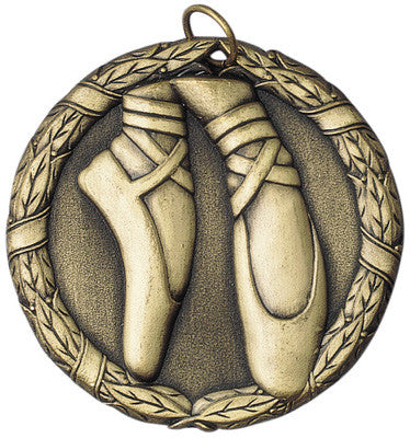 "Dance XR Medal, 2"" in gold"