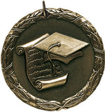 "Scholastic XR Medal, 2"" in gold"