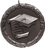"Scholastic XR Medal, 2"" in silver"
