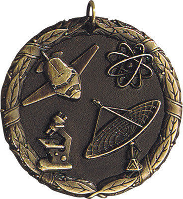 "Science XR Medal, 2"" in gold"