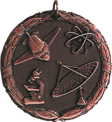 "Science XR Medal, 2"" in bronze"