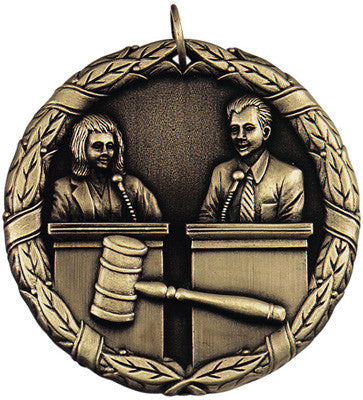 "Debate XR Medal, 2"" in gold"