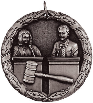 "Debate XR Medal, 2"" in silver"