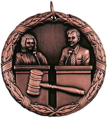 "Debate XR Medal, 2"" in bronze"