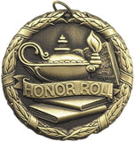 "Honor Roll XR Medal, 2"" in gold"