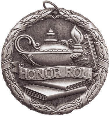"Honor Roll XR Medal, 2"" in silver"