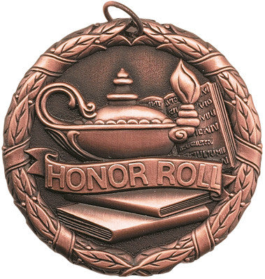 "Honor Roll XR Medal, 2"" in bronze"