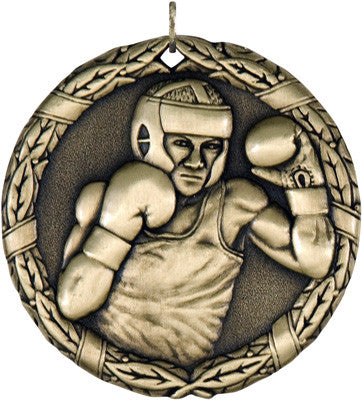 "Boxing XR Medal, 2"" in gold"