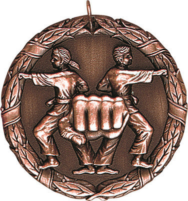 "Karate XR Medal, 2"" in bronze"
