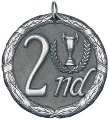 "2nd Place XR Medal, 2"" in silver"