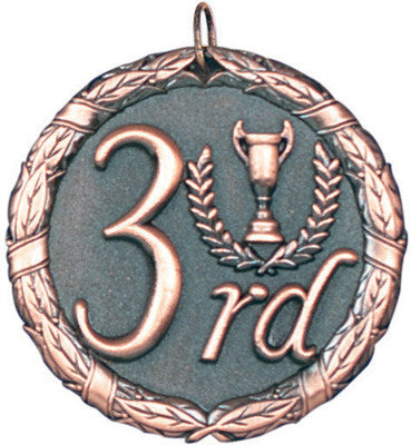 "3rd Place XR Medal, 2"" in bronze"