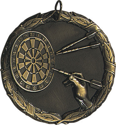 "Darts XR Medal, 2"" in gold"