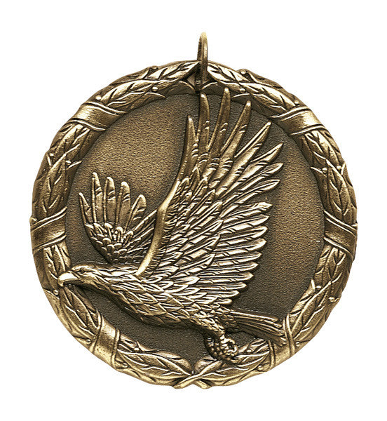 "Eagle XR Medal, 2"" in gold"