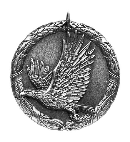 "Eagle XR Medal, 2"" in silver"