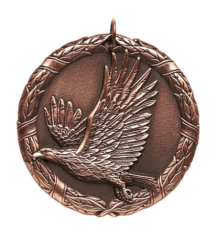 "Eagle XR Medal, 2"" in bronze"