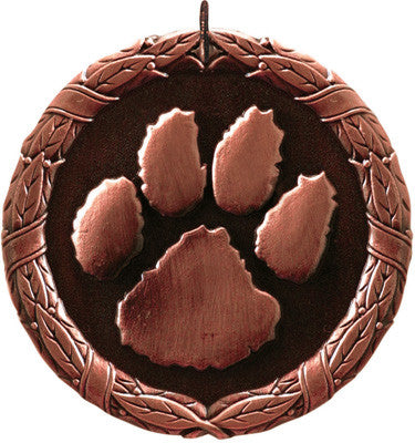 "Paw Print XR Medal, 2"" in bronze"