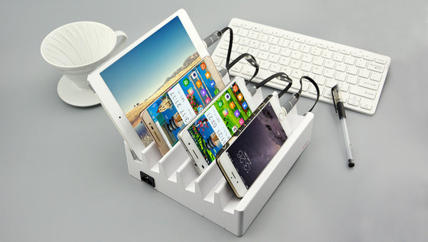 Sawtooth: Super Fast 6-Device USB Charger and Docking Station - Standard Edition