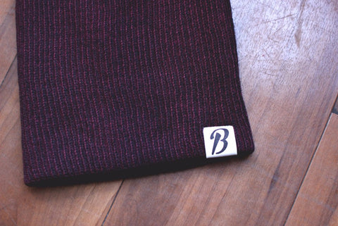 Maroon Slouch Toque