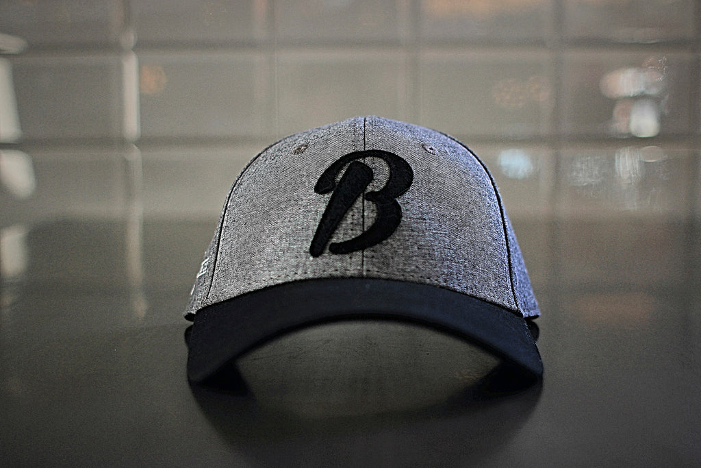 B Heather Grey Hat