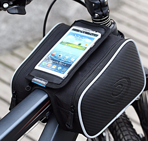 Bike Cellphone and Double Pouch Storage Bag