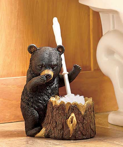 Animal Bear Toilet Brush Holder Bathroom Household Supplies Accessories