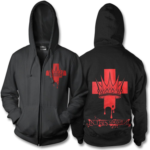 Blood Cross Zip Hoodie